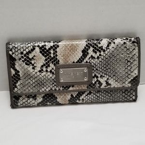 Nine West Faux Snake Skin Wallet